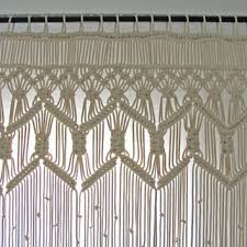 Macrame Bohemian Curtains Boho Wedding from MinimalFrufru on Etsy