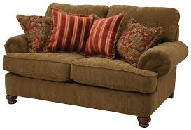 Broyhill Laramie Sofa Fabric by Traditional Styled Loveseat With Decorative Rolled Arms By Jackson