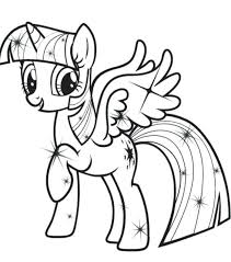 Princess Twilight Sparkle Coloring Pages My Little Pony