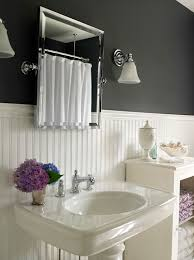 White Beadboard Bathroom View Full Size