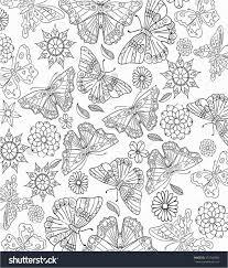 Papillon Coloriage Tribal Fleur