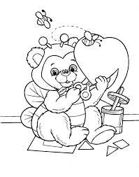 Downloads Online Coloring Page Printable Valentine Pages 71 In Site With