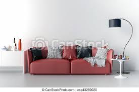 wohnzimmer mit leerer wand im hintergrund wohnzimmer sofa