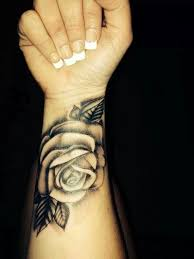 Wonderful Black Rose Tattoo On Wrist