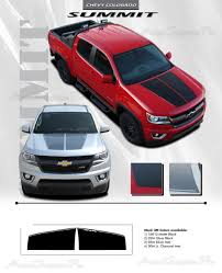 100 Chevy Decals For Trucks 2015 2016 2017 2018 2019 Colorado Hood Stripes SUMMIT