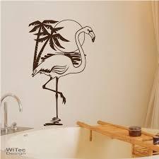 wandtattoo badezimmer flamingo palme wandaufkleber