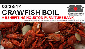 Crawfish Boil on Feb 28th benefiting Houston Furniture Bank