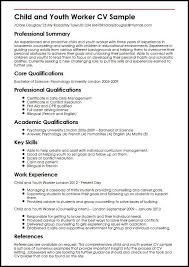 Child And Youth Worker CV Sample
