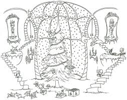 Christmas Tree Coloring Pages Free Printable With