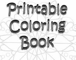 Printable Coloring Book Adult Mandalas Zen Doodle Mandala Color Pages Six Sheets ZenDoodle Bundle Therapy