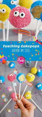 fasching cakepops kuchen am stiel backen mit globus
