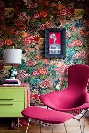 blumentapete wohnzimmer ideen bunte tapete für wände