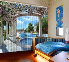 Schlafzimmer Vorhã Nge Europäische Vorhänge Für Schlafzimmer Wohnzimmer Schwimmbad Verdunkelungsfenstervorhang Kinderzimmer 3d Vorhänge Polyester Vorhänge