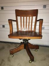antique bankers chair ebay