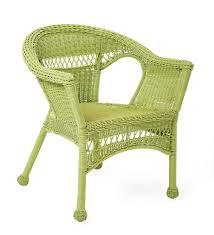 Amazon.com : Easy Care Resin Wicker Chair, Lime : Garden ...
