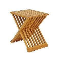 design beistelltisch klappbar genua aus bambus massiv