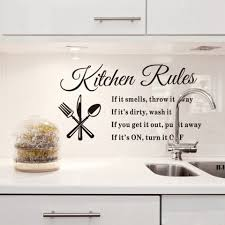 Best Kitchen Rules Style Wall Sticker Home Appliances Decor Vinyl Decals