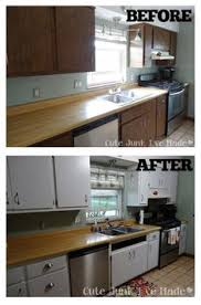 How To Paint Laminate Cabinets Before After Almost Exactly Like My