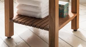 destiny spa badezimmer hocker tisch geriffelt teakholz mit