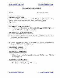 Resume Format For Bba Graduates Awesome Diploma Mechanical Engineering Download Elegant At Pdf