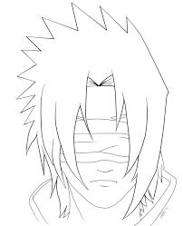 Coloriage Sasuke