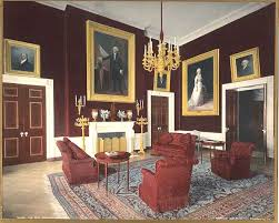 American Empire Architecture Red Room White House The Looking Northwest During Administration Of Bill Clinton