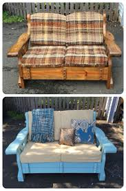 Wooden Couch Makeover Taken From A Neighbors Curb And Transformed With Milk Paint New