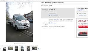 100 Commercial Trucks Ebay EBAY SCAM FRAUD 2007 Mercedes Sprinter Recovery Truck Hallgosset84
