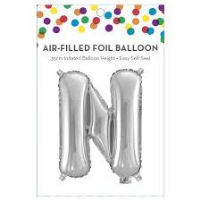 AirFilled Letter N Foil Balloon KmartNZ