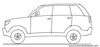 SUV side view drawing