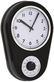 Bed Bath And Beyond Decorative Wall Clocks by Amazon Com Bai Retro Kitchen Timer Wall Clock Black Home U0026 Kitchen