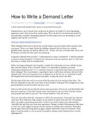 How to Write a Demand Letter Eviction