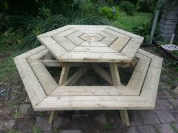 picnic table with benches plans free bench decoration