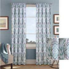 Gold And White Window Curtains by Better Homes And Gardens Damask Curtain Panel Walmart Com