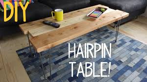 Building A Simple Wood Desk by How To Build A Simple Hairpin Table Youtube