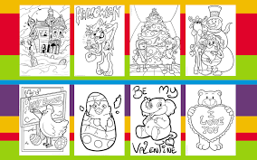 Online Coloring And Printable Pages
