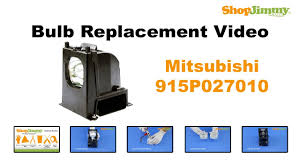 Mitsubishi Projector Lamp Replacement by Mitsubishi 915p027010 Bulb Replacement Guide For Dlp Tv Lamp Youtube