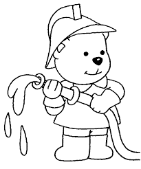 Fire Truck Dog And Fireman Printable Coloring Page