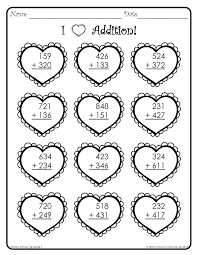Addition Subtraction Coloring Worksheets Pages Grade Color Of Love