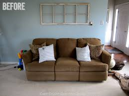 Narrow Sofa Table Behind Couch by Faux Sofa Table Tutorial East Coast Creative Blog