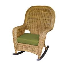 Tortuga Outdoor Sea Pines Mojave Wicker Outdoor Rocking Chair With Rave  Kiwi Cushion
