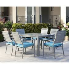 cosco outdoor living 7 piece blue veil patio dining set lowe s