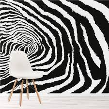 zebra print 3d fototapete schwarz weiss tapete schlafzimmer foto inneneinrichtungen