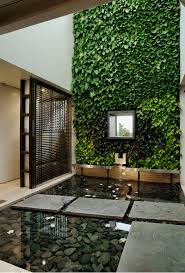 100 Body House The Courtyard Is Treated With A Full Green Wall With Stepping
