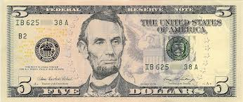 United States Five Dollar Bill