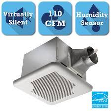 Humidity Sensing Bathroom Fan Wall Mount by Delta Breez Signature Series 110 Cfm Ceiling Bathroom Exhaust Fan