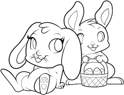 Easter Bunny Coloring Pages With