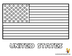 Printable Coloring Country Flags Us Pages