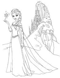 Frozen Characters Colouring Pages View Larger