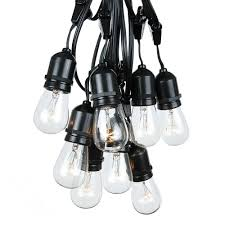 Tommys Patio Cafe by 48 Foot S14 Edison Outdoor String Lights Suspended Socket String